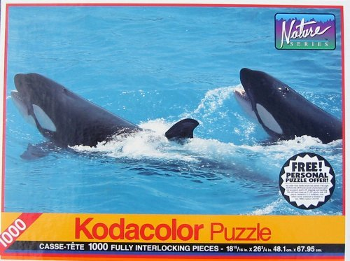 Nature Series Kodacolor 1000pc. Puzzle-Whales by Rose Art - 1