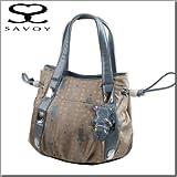 サボイ SAVOY バッグ  ロゴとクマ柄ビジュー付きトートバッグ23SM12764203