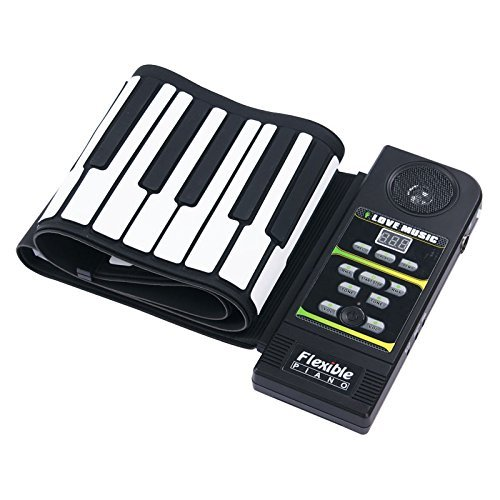 Sourcingbay Portable 61Keys Midi Roll Up Electronic Piano Keyboard Silicone Flexible Roll Up Electronic Keyboard Piano With Loud Speaker And Foot Pedal