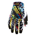 2013 O'Neal Jump Gloves XLARGE VILLAIN BLACK/WHITE
