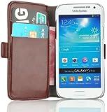 JAMMYLIZARD   Luxuri�s Wallet Ledertasche H�lle f�r Samsung Galaxy S4 Mini, BRAUN