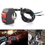 LEDUR Switch on off Motorcycle 7 / 9 Inch Universal Handlebar Mounting Switch for Headlight Fog Daytime Running Light