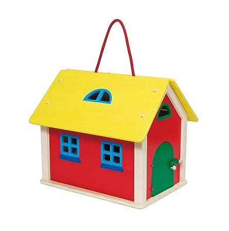 Goki - 51916 - Maison de Poupée - Valise Ferme avec Accessoires et Animaux