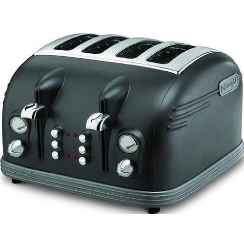toaster g nstig de longhi metropolis ctm retro design 4 schreiben toaster mit zwei ausziehbare. Black Bedroom Furniture Sets. Home Design Ideas