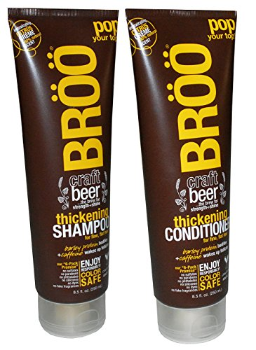BROO Craft Beer Thickening Shampoo and Conditioner Citrus Creme 100% Natural Scent Color Safe and Vegan (Craft Beer Shampoo compare prices)