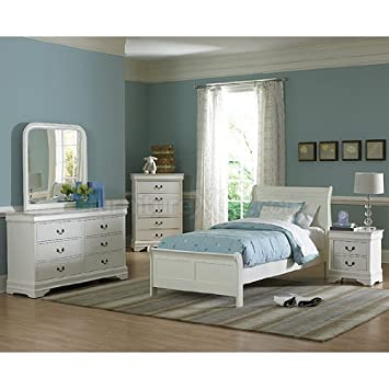Marianne Youth Panel Bedroom Set (White) (Twin) by Homelegance