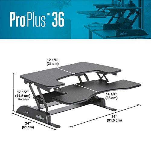 VARIDESK 49900 - Height-Adjustable Standing Desk - Pro Plus 36 - Black