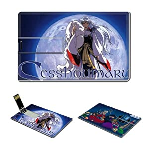 8GB USB Flash Drive USB 2.0 Memory Credit Card Size Anime Inuyasha Comic Game Customized Support Services Ready Inuyasha 013