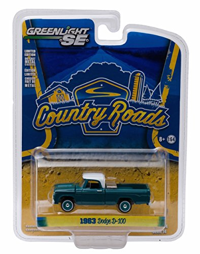 1963 DODGE D-100 w/ TOOLBOX * Country Roads Series 14 * 2016 Greenlight Collectibles 1:64 Scale Die-Cast Vehicle