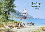 "Wall Calendar 2018 [12 pages 8""x11""] Ocean Marine Sailship Pirates by Montague Dawson Vintage Poster"
