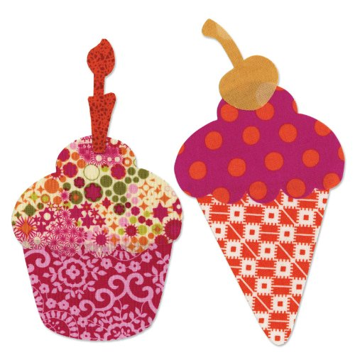 Sizzix Bigz L Die - Cupcake or Ice Cream Cone w/Cherry & Candle (Sizzix Cone Die compare prices)