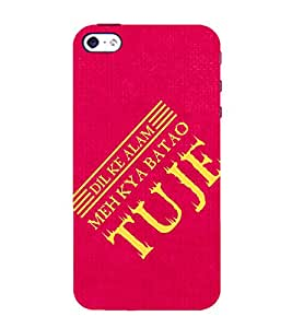A POETIC QUOTE IN A RED BACKGROUND 3D Hard Polycarbonate Designer Back Case Cover for Apple iPhone 4