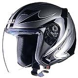 リード工業(LEAD) STRAX SJ-9 ジェットヘルメット シルバー /M(57~58cm未満)