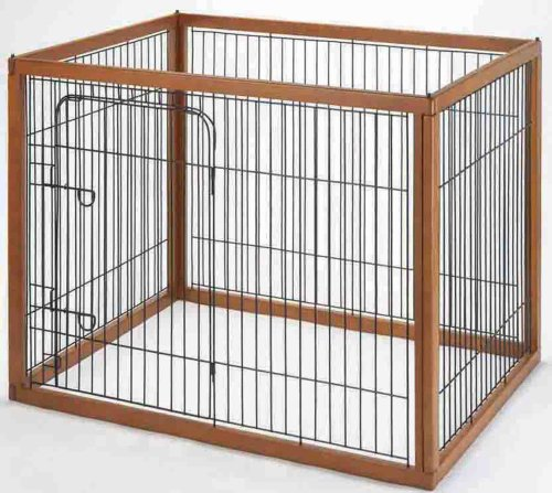 Richell Wood Pet Pen 120-90, Autumn Matte Finish