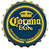 New Corona Extra Blue Bottle Cap Beer Bar Neon Clock