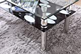 HODEDAH IMPORT Glass Coffee Table, Clear