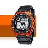KANO BAK Child Kids Boy girl Student Digital Quartz Alarm Sports Waterproof Christmas gift Watch Orange
