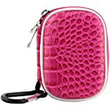 Biru Gear Hot Pink Small Carrying Storage Eva Case for SanDisk Sansa MP3 Player : Sansa Clip/ Clip+ 4 GB/ 8 GB, Clip Zip, Fuze, KIIS FM slotRadio To Go