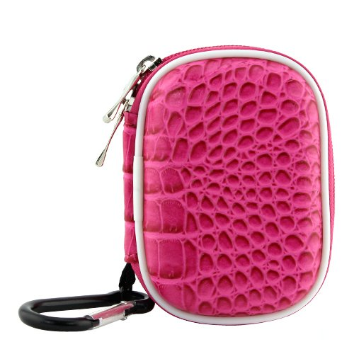 Biru Gear Hot Pink Small Carrying Storage Eva Case for SanDisk Sansa MP3 Player : Sansa Clip/ Clip+ 4 GB/ 8 GB, Clip Zip, Fuze, KIIS FM slotRadio To Go