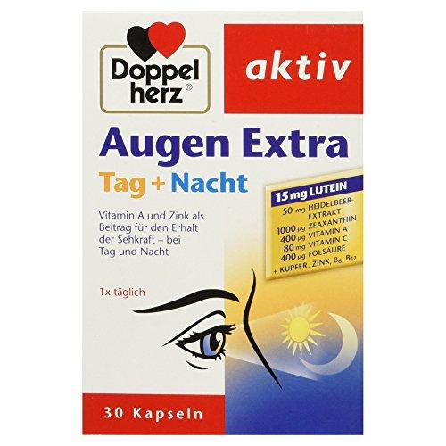 [도펠헤르츠] 아이 엑스트라 데이 나이트/ 눈영양제 (30정) Doppelherz Aktiv Augen Extra Tag plus Nacht, 30 Kapseln