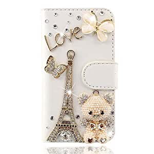 United Electek® Bling Strass Cuir Style Etui Housse Coque pour Samsung Galaxy Trend GT-S7560 / Galaxy S Duos S7562