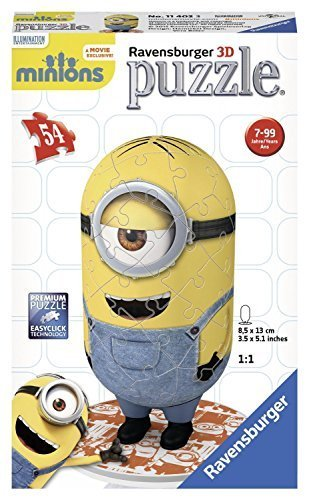 Minions! 54 Piece Ravensburger Shaped Minion 3D Puzzle