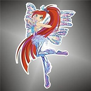 Adesivo WINX Bloom Comics cartoon cartoni animati sticker   recensione