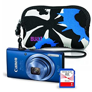 Canon PowerShot ELPH 115 16 MP Digital Camera Kit (Blue)