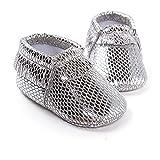 Lemandy Lovely sint�tica Beb�s primera zapatos de senderismo Zapatos de Senderismo de aprendizaje Ni�os o Ni�as BS002 plateado oscuro Talla:11cm