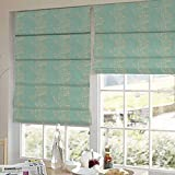 Presto Bazaar Blue N White Abstract Jacquard Window Blind (48 Inch X 44 Inch)