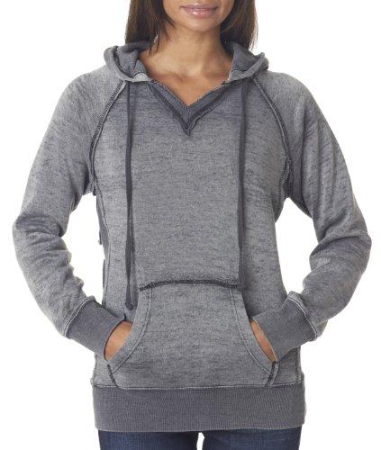 MV Sport Women's Courtney Burnout Hooded Pullover Blend Fleece