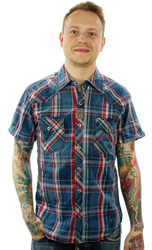Meltin' Pot -  Camicia Casual  - Uomo blu Large