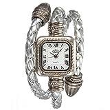 Montre Bracelet Quartz Cable Tresse Cuir Femme Cadeau Mode Bijoux Wrist Watch
