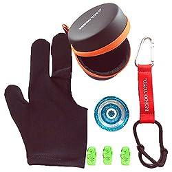 Beboo Yo Yo N12S PRO Aluminium Alloy Magic Yo Yo with Case Glove Set Kids Gifts Outdoor Toy