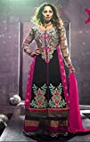 Saheli Fabric Womens Georgette Unstitched Salwar Suit (SF944_Pink)