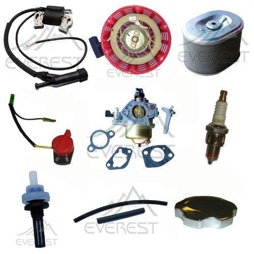 Honda Gx390 Carburetor Recoil Ignition Coil Spark Plug Air Filter Gas Cap Tune up Kit (Honda Gx390 Parts compare prices)