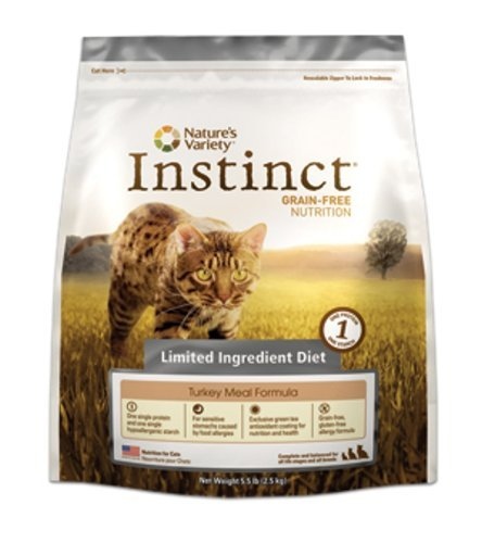 See Instinct Grain-Free Turkey Meal Formula Limited Ingredient Diet Dry Cat Food by Nature's Variety, 5.5-Pound Bag