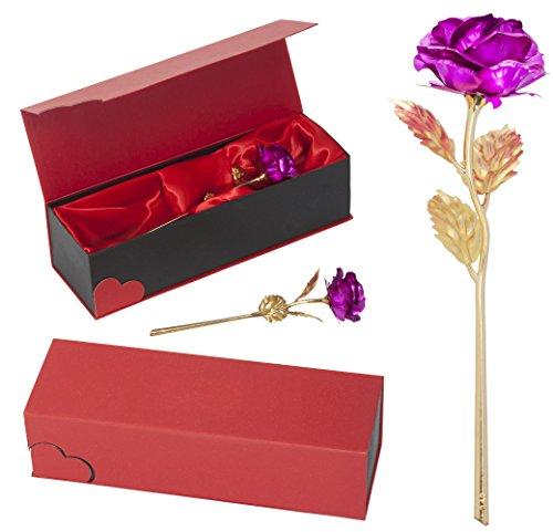 remmo love vergoldete rosa pink goldene rose mit 24 karat. Black Bedroom Furniture Sets. Home Design Ideas
