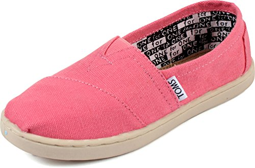 Toddler TOMS 'Classic - Youth' Slip-On Pink 13 M
