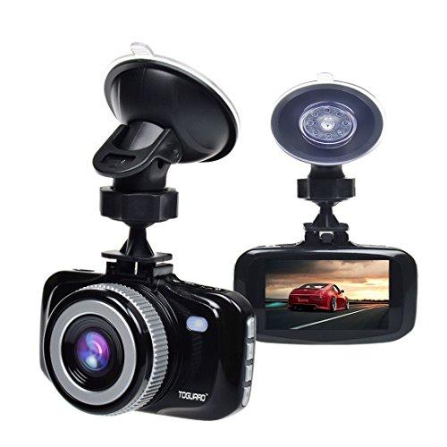 Toguard-Full-HD-1080P-H264-27-LCD-Auto-Kamera-DashCam-Armaturenbrett-Kamera-G-Sensor-LDWS-Warnung-bei-Fahrstreifenwechsel-FCWS-Abstandwarnung-Parkmonitor-Bewegungserkennung-und-Nachtsicht