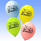 20 x Eggcelent Happy Easter Eggs Printed Latex Party Balloon Decorations