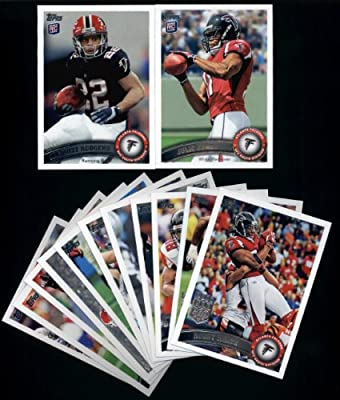 2011 Topps Atlanta Falcons Complete Team Set of 13 cards including Matt Ryan, Turner, White, Grimes, Julio Jones RC, Rodgers RC,