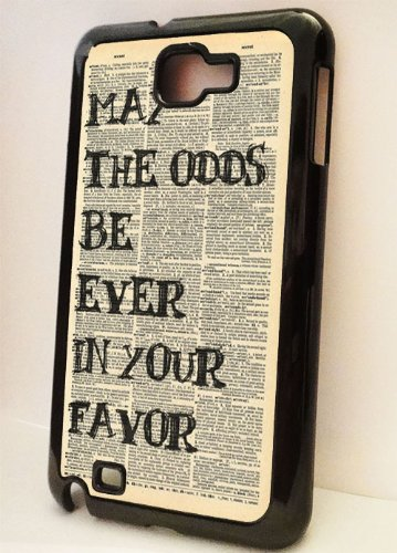 Black Samsung Galaxy Note Case --- Hunger Games Odds in Your Favor