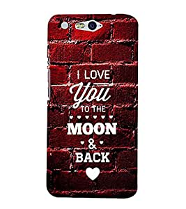 I LOVE YOU Designer Back Case Cover for Infocus M812