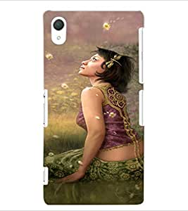 ColourCraft Beautiful Girl Design Back Case Cover for SONY XPERIA Z2
