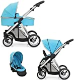 BabyStyle Oyster MAX Inline Double Pushchair (inc 2nd Seat & Carrycot) Ocean