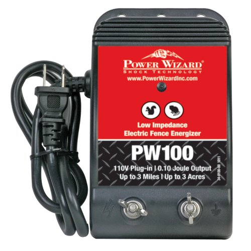 Power Wizard PW100 Low Impedance Plug-in 3 Mile Electric Fence Energizer