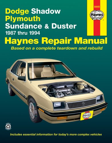 Image for Haynes Dodge Shadow, 1987-1994 (Haynes Manuals)