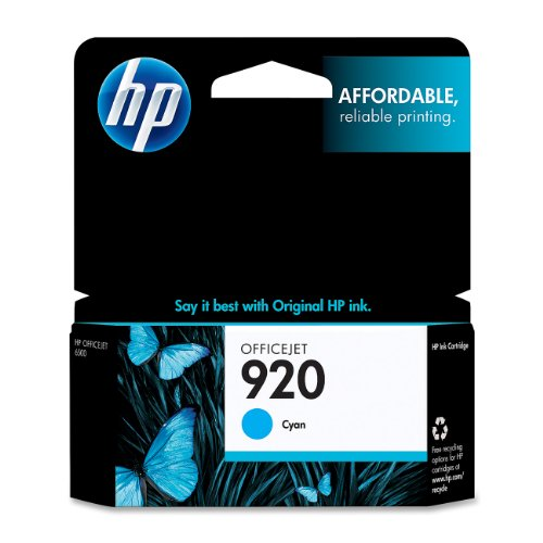 Hp 920 (Ch634An) Cyan Original Ink Cartridge back-962169
