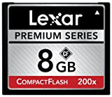 Lexar Premium 8GB 200x 30MB/s High Speed CompactFlash Memory Card